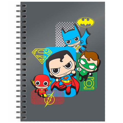 DC Comics Justice League Chibi A5 Spiral Notebook