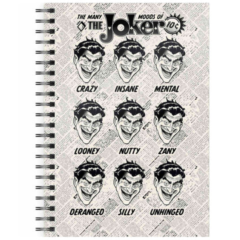 DC Comics The Many Moods of Joker A5 Spiral Notebook