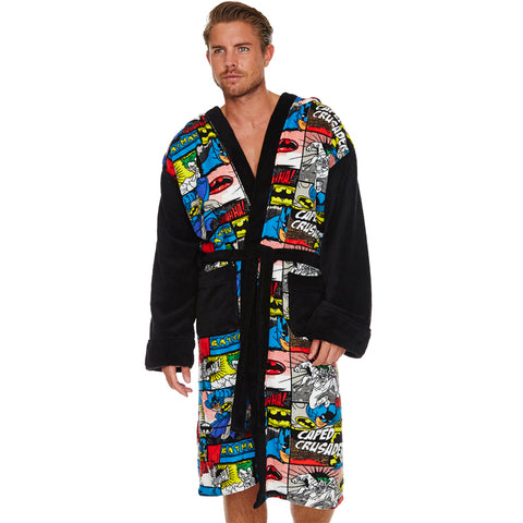 Batman Comic Strip Bath Robe