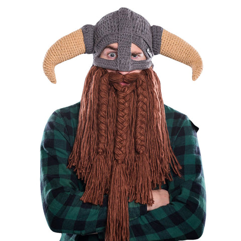 Battle Viking Bearded Hat