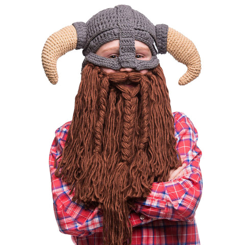 Kids Battle Viking Bearded Hat