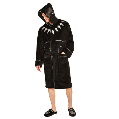 Black Panther Bathrobe with Hood