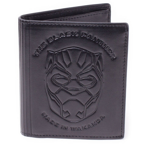 Marvel Blank Panther Debossed Faux Leather Tri-Fold Wallet