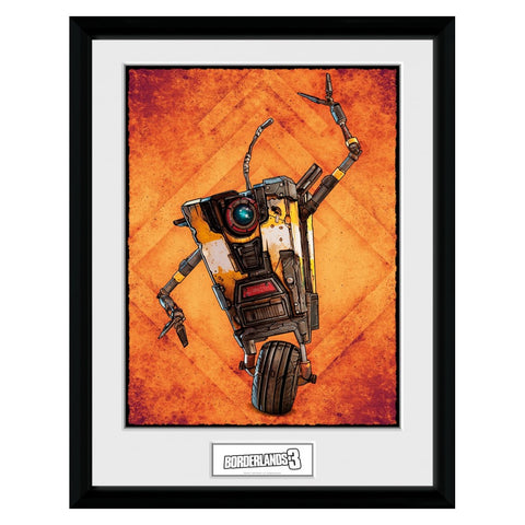 Borderlands 3 Claptrap Framed Print