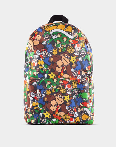 Super Mario Character Print Backpack