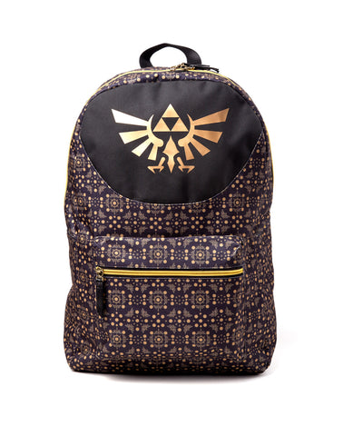 The Legend of Zelda Black and Gold Backpack
