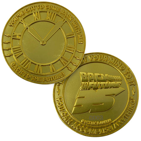 Back to the Future 35th Anniversary Gold Limited Edition Collectors Coin