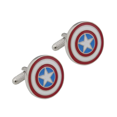 Marvel Captain America Shield Stainless Steel Cufflinks