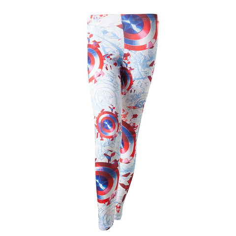 Marvel Captain America All Over Print Shield Leggings