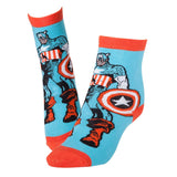 Marvel Captain America Red and Blue Hero Socks