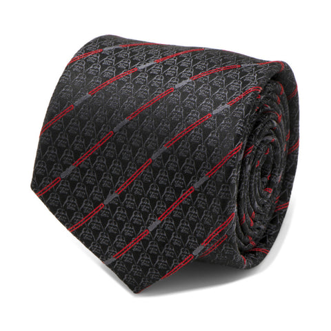 Star Wars Darth Vader With Red Lightsaber Black Silk Tie