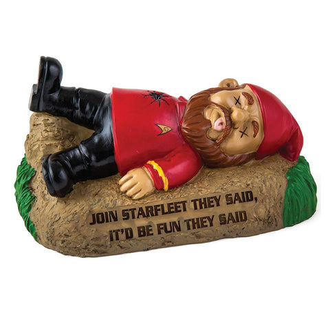 Star Trek Dead Red Shirt Garden Gnome