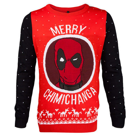 Deadpool Knitted Christmas Jumper / Sweater