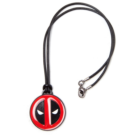 Marvel Deadpool Necklace with Leather Cord