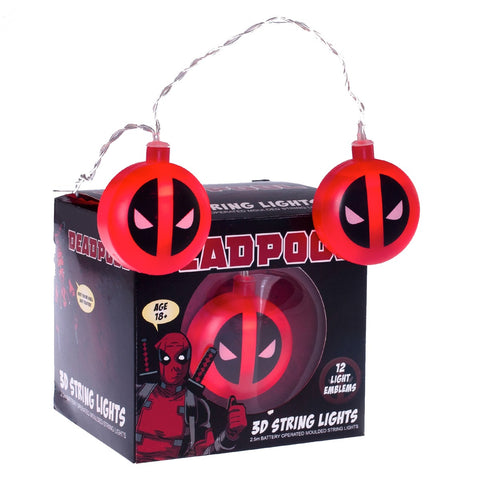 Marvel Deadpool 3D String Lights