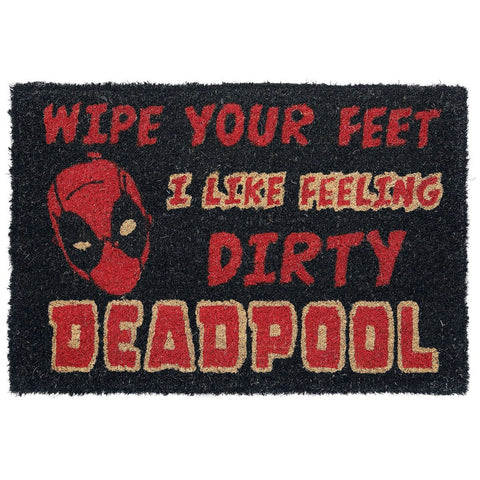 Deadpool I Like Feeling Dirty Coir Doormat