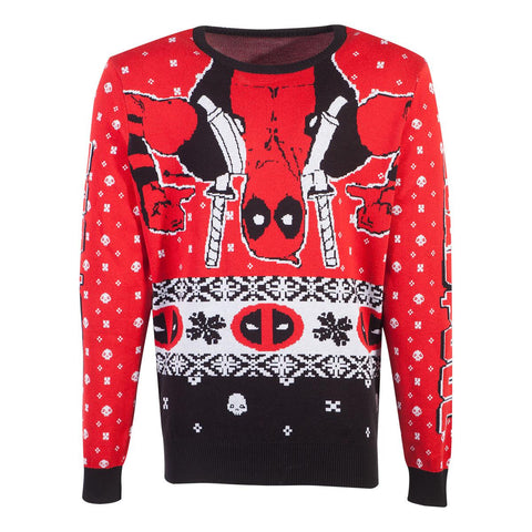 Deadpool Inverted Merc Knitted Christmas Sweater/Jumper