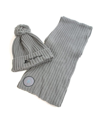 Sony Playstation PS1 Beanie and Scarf Set