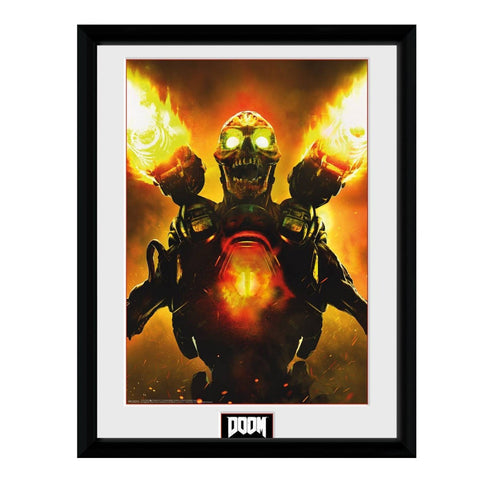 Doom Key Artwork Framed Print