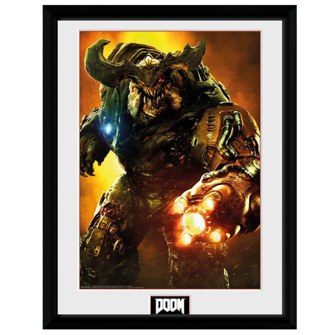 Doom Cyber Demon Artwork Framed Print
