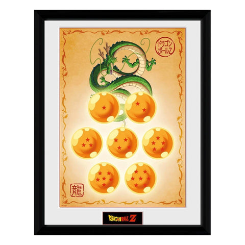 Dragon Ball Z Dragon Balls Framed Print