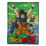 Dragon Ball Z Goku and Friends Blanket Throw