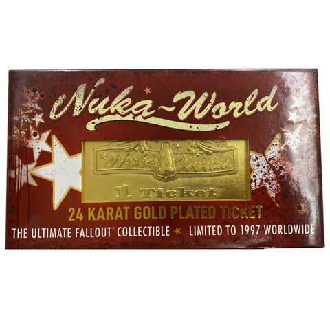 Fallout Limited Edition Nuka World 24K Gold Plated Ticket