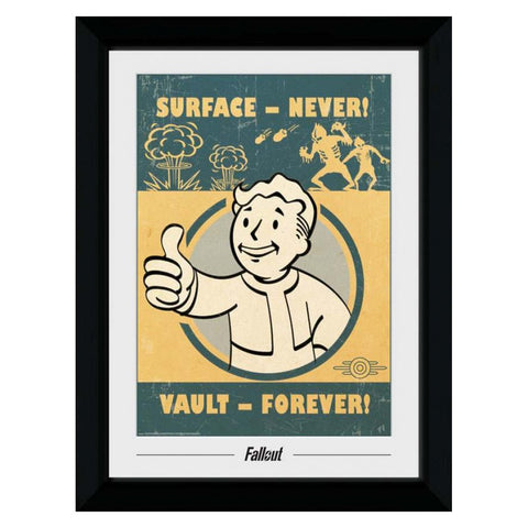 Fallout Vault Forever Collectors Framed Print