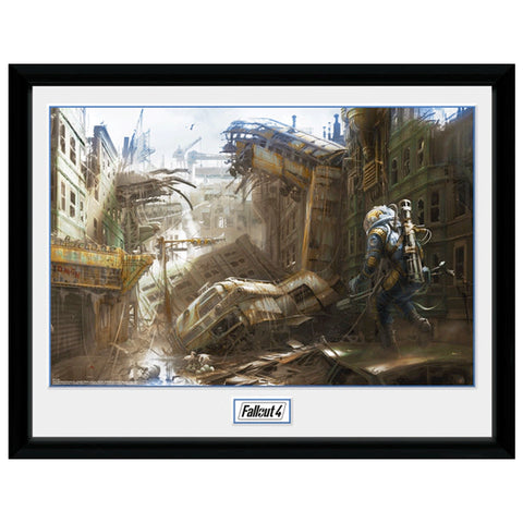 Fallout Vertical Slice Collectors Framed Print