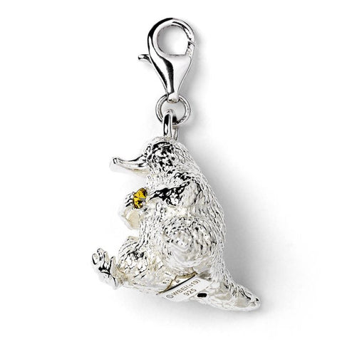 Fantastic Beasts Sterling Silver Niffler Clip-on-Charm with Swarovski Crystals