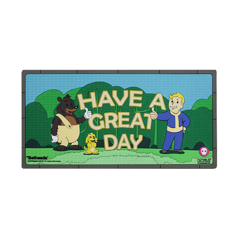 Fallout 76 Have a Great Day Rubber Doormat