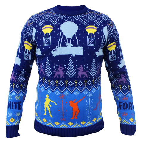 Fortnite Kids Knitted Christmas Jumper/Sweater