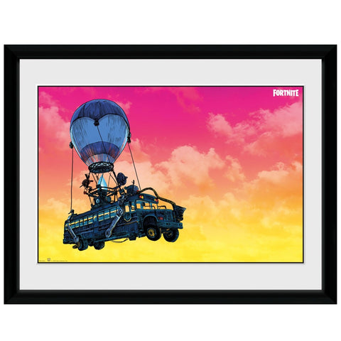 Fortnite Battle Bus Framed Print