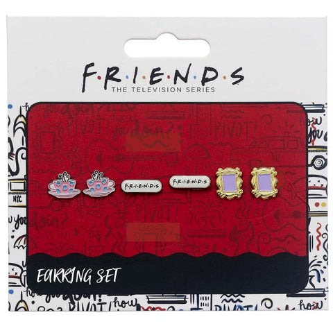 Friends Set of 3 Earring Studs