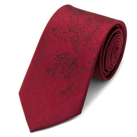 Game of Thrones House Lannister Red Silk Tie