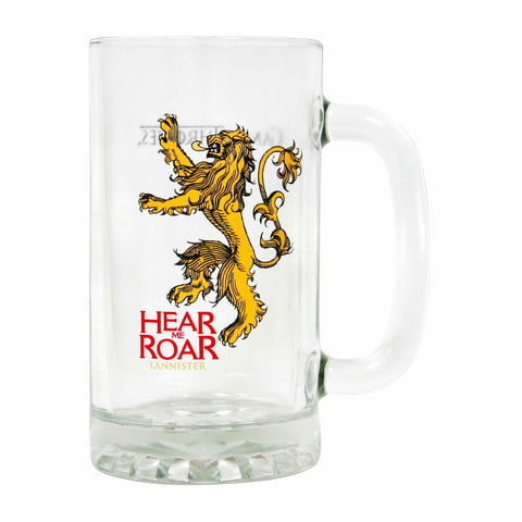 Game of Thrones House Lannister Large Glass Tankard