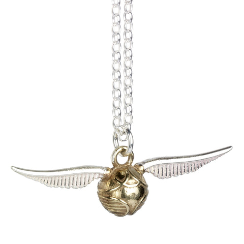 Harry Potter Sterling Silver Golden Snitch Pendant