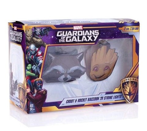 Guardians of the Galaxy Rocket Raccoon and Groot String Lights