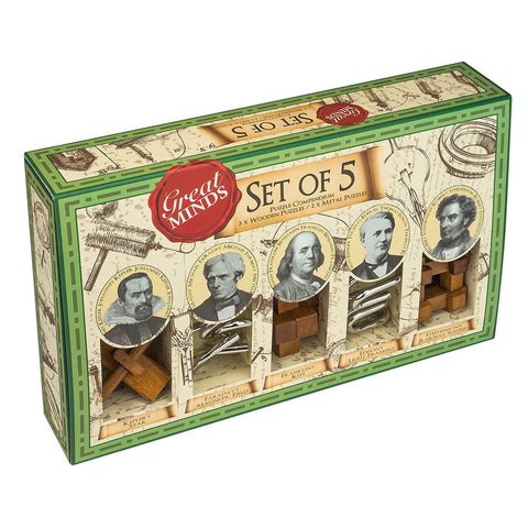 Great Minds Puzzle Set of 5