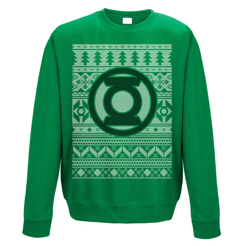 Green Lantern Christmas Jumper