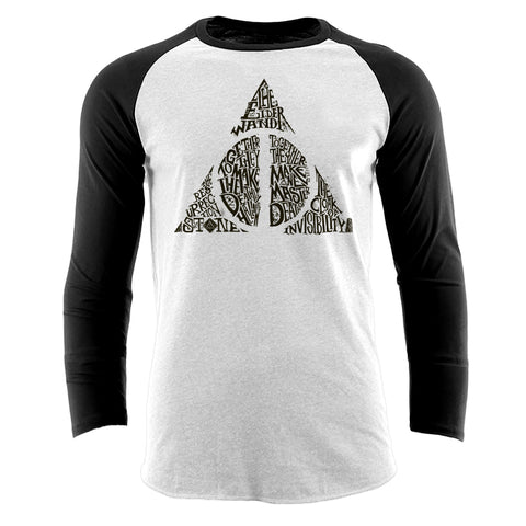 Harry Potter - The Deathly Hallows Premium Baseball T-Shirt