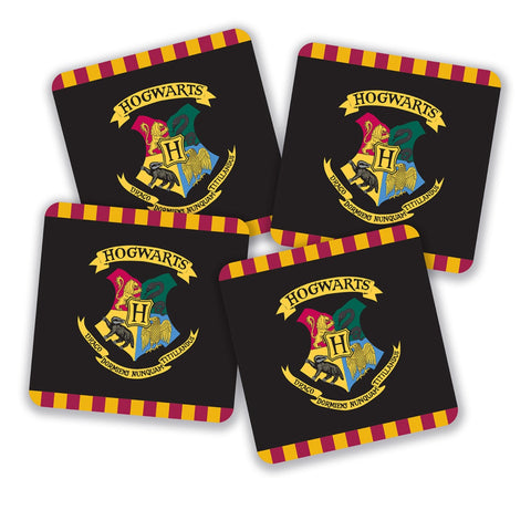 Harry Potter Hogwarts Crest Coasters (Set of 4)