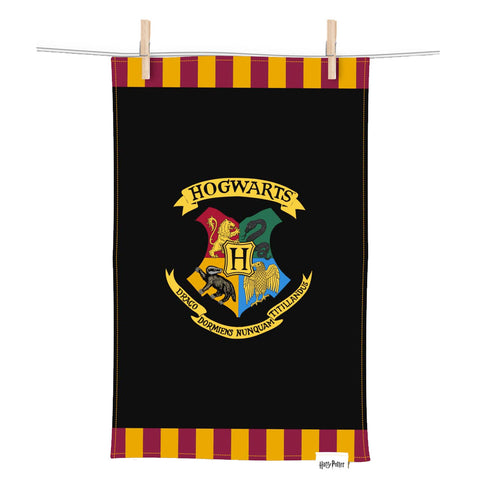 Harry Potter Hogwarts Crest Tea Towel