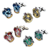 Harry Potter House Crest Silver Plated Cufflinks