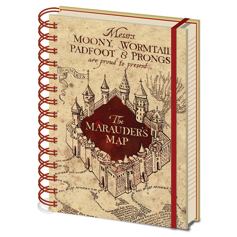 Harry Potter Marauders Map Spiral Bound A5 Notebook