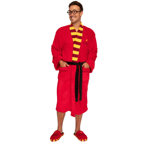 Harry Potter Classic Symbols Bathrobe with Matching Slippers