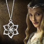 The Lord of the Rings Galadriel Flower Sterling Silver Necklace