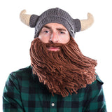 Viking Horn Bearded Hat