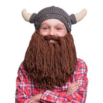 Kids Viking Horn Bearded Hat