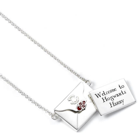 Harry Potter Hogwarts Opening Envelope Acceptance Letter Sterling Silver Necklace